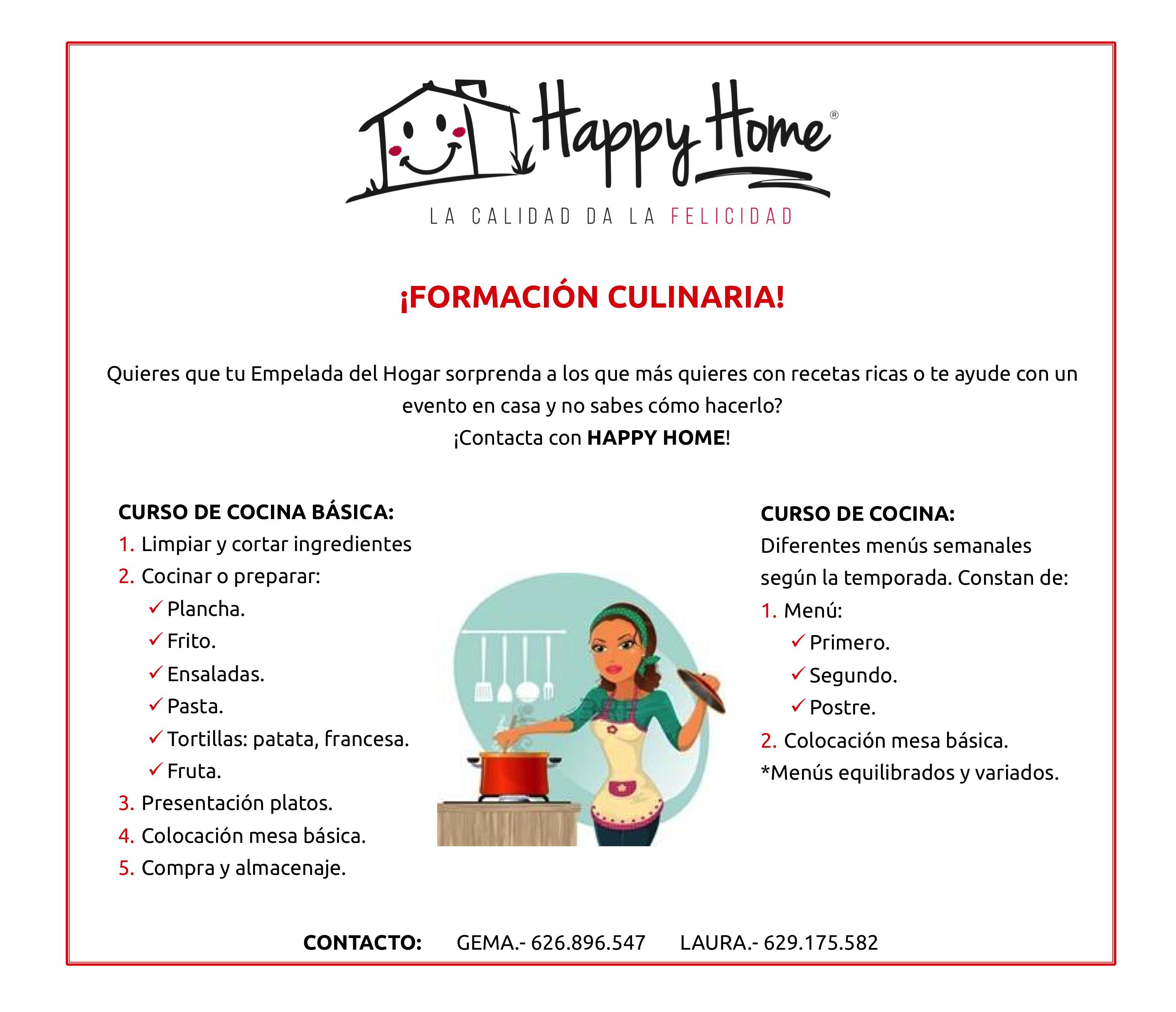 Taller De Cocina Para Empleadas Del Hogar Barcelona Happy Home